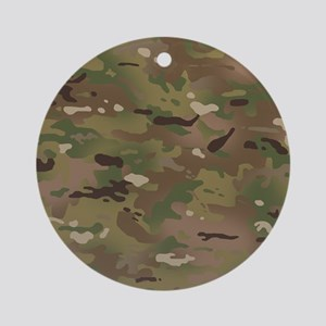 Military Camouflage Pattern Round Ornament