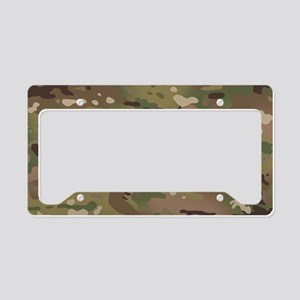 Military Camouflage Pattern License Plate Holder