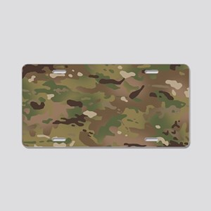 Military Camouflage Pattern Aluminum License Plate