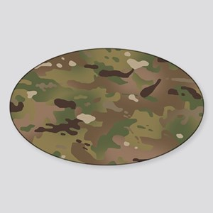 Military Camouflage Pattern Sticker (Oval)