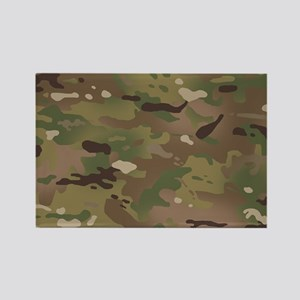Military Camouflage Pattern Rectangle Magnet