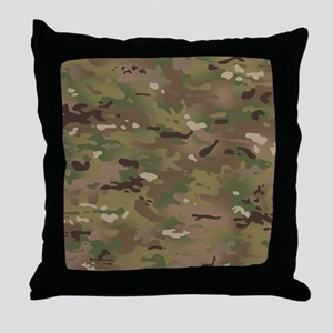 Military Camouflage Pattern Throw Pillow
