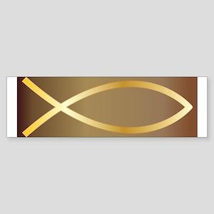 Christian Fish Gold Bumper Sticker