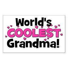 World's Coolest Grandma! Rectangle Decal