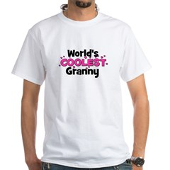 World's Coolest Granny! White T-Shirt
