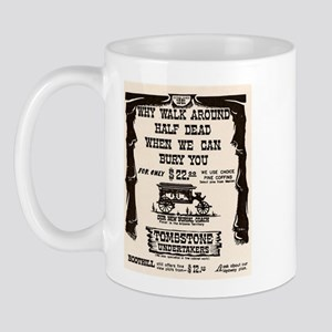 Tombstone Undertakers Mug