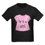 It's a Girl Kids Dark T-Shirt