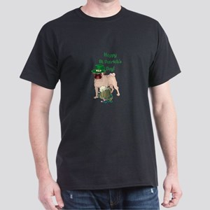 St Patricks Day Pug Dark T-Shirt