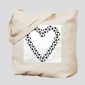 Soccer Heart Tote Bag