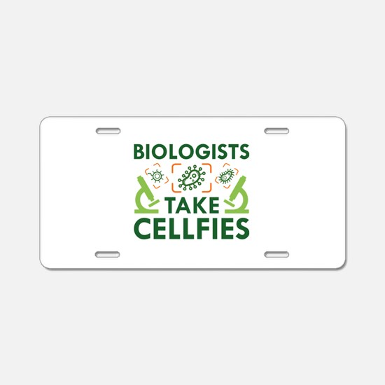 Biologists Take Cellfies Aluminum License Plate