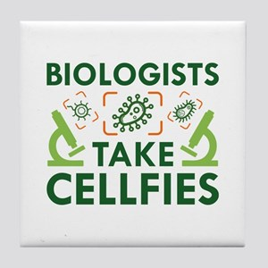 Biologists Take Cellfies Tile Coaster