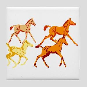 Frisky Foals Tile Coaster