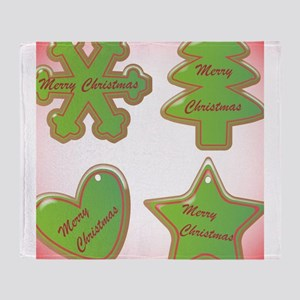 Christmas Cookies With Snowdust and Throw Blanket