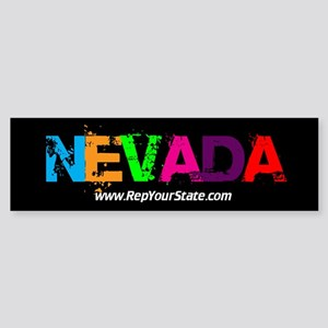 Colorful Nevada Bumper Sticker