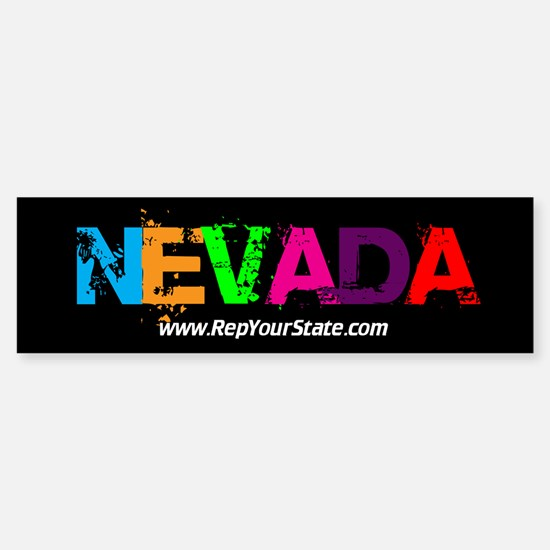 Colorful Nevada Bumper Bumper Bumper Sticker