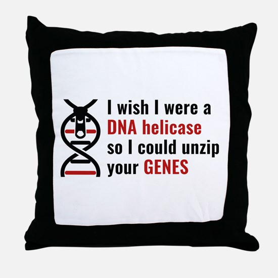 Unzip Your Genes Throw Pillow