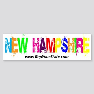 Colorful New Hampshire Bumper Sticker