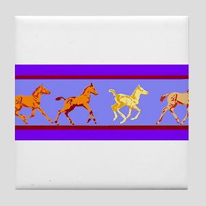 Running Colt Tile Coaster
