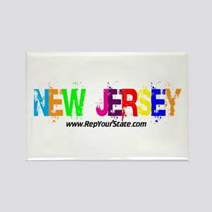Colorful New Jersey Rectangle Magnet