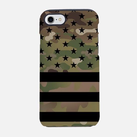 U.S. Flag: Military Camoufla iPhone 8/7 Tough Case