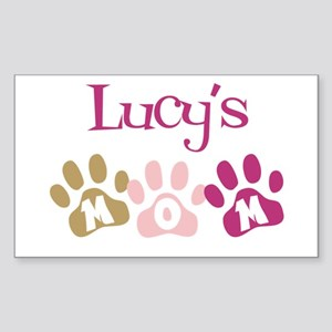 Lucy's Mom Rectangle Sticker