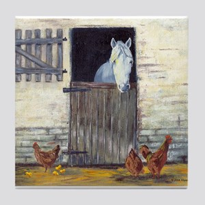 Horse in Stall Tile Coaster