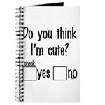 do you think i'm cute? Journal