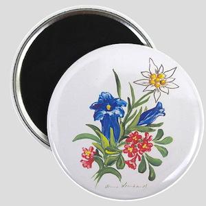 Alpine Flowers Magnet