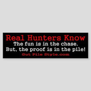 Pro Hunting Bumper Sticker
