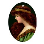 Irish Princess Oval Ornament