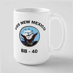 USS New Mexico BB 40 Large Mug