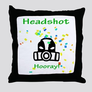 Halo Grunt Headshot Throw Pillow