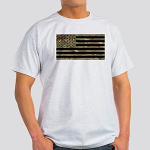 U.S. Flag: Military Camouflage T-Shirt