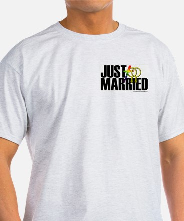 Just Married (Women) Ash Grey T-Shirt
