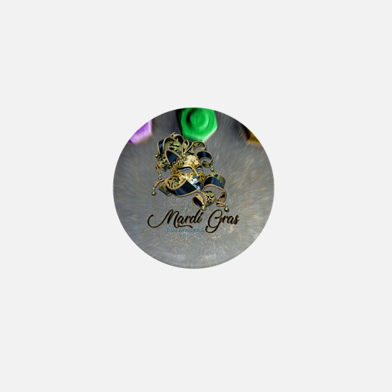 Mardi Gras mask Mini Button