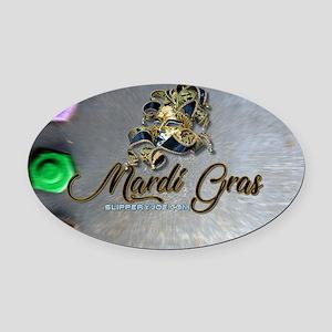 Mardi Gras mask Oval Car Magnet