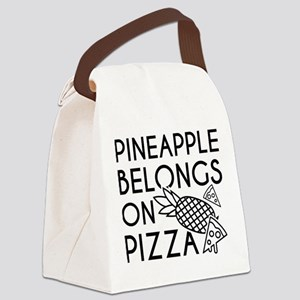 Pineapple Pizza Canvas Lunch Bag