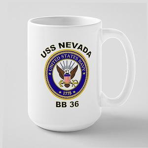 USS Nevada BB 36 Large Mug