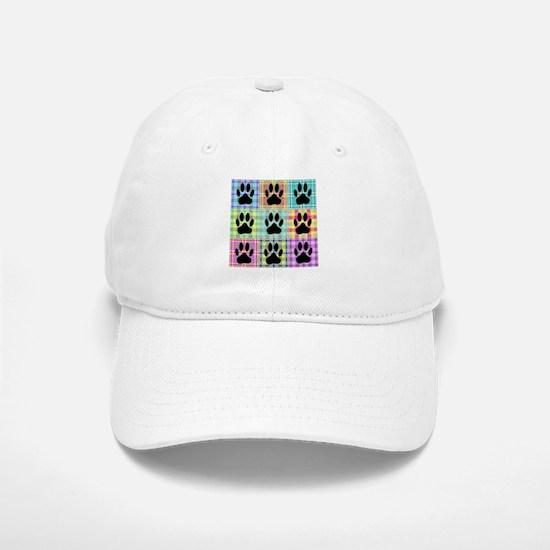 Dog Paw Pattern Quilt Baseball Baseball Cap