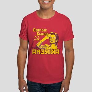 Comrade Clinton Red Dark T-Shirt