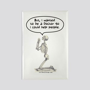 Med Student Skeleton Prayer Rectangle Magnet