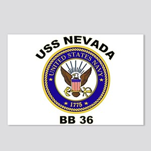 USS Nevada BB 36 Postcards (Package of 8)
