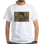 Afro White T-Shirt