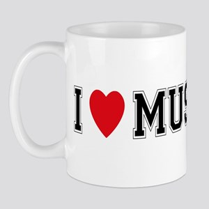 I Love Mustangs Mug