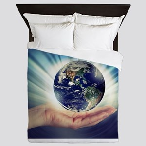 World in Our Hands Queen Duvet