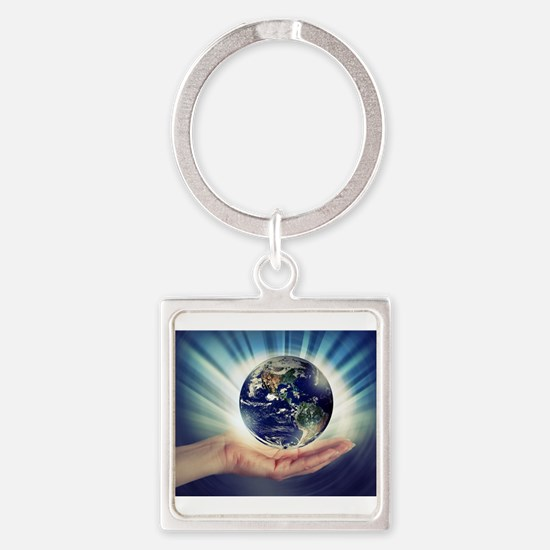 World in Our Hands Keychains