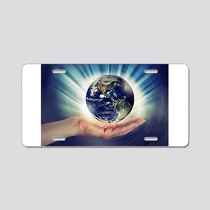 World in Our Hands Aluminum License Plate