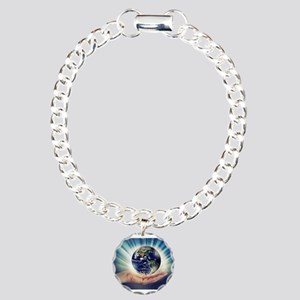 World in Our Hands Charm Bracelet, One Charm