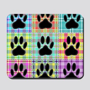 Dog Paw Pattern Quilt Mousepad