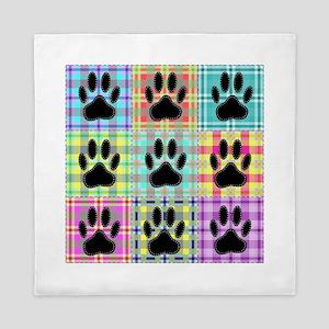 Dog Paw Pattern Quilt Queen Duvet